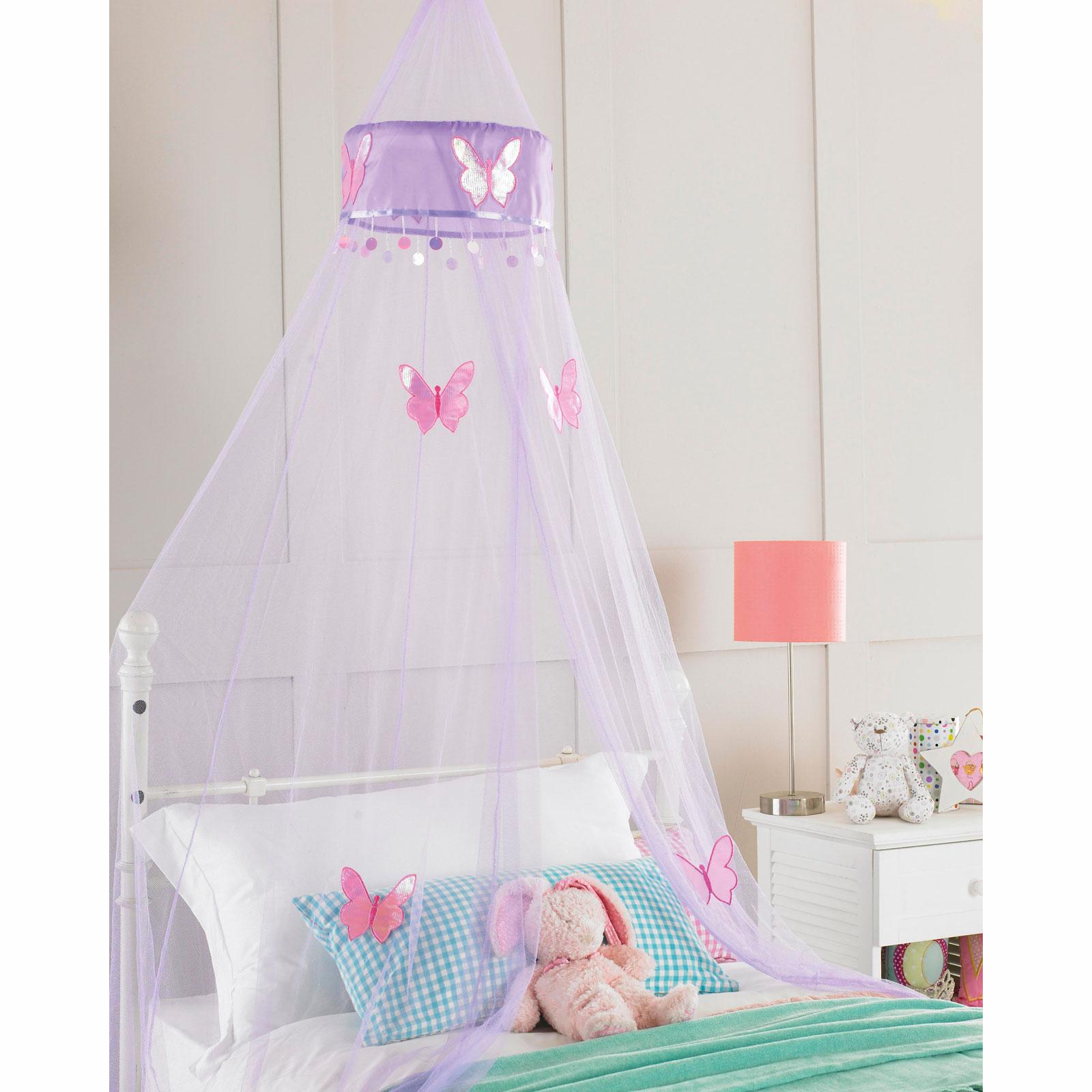 Enfants filles lit baldaquin moustique mouche filet volants ou papillon 30x2 - Lit baldaquin enfants ...