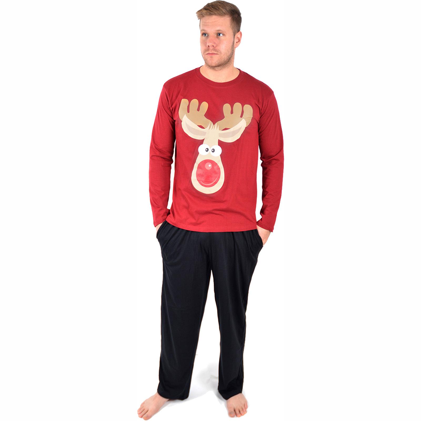 Mens Novelty Christmas Xmas Pyjama Set Present PJ Night Sleep Wear ...