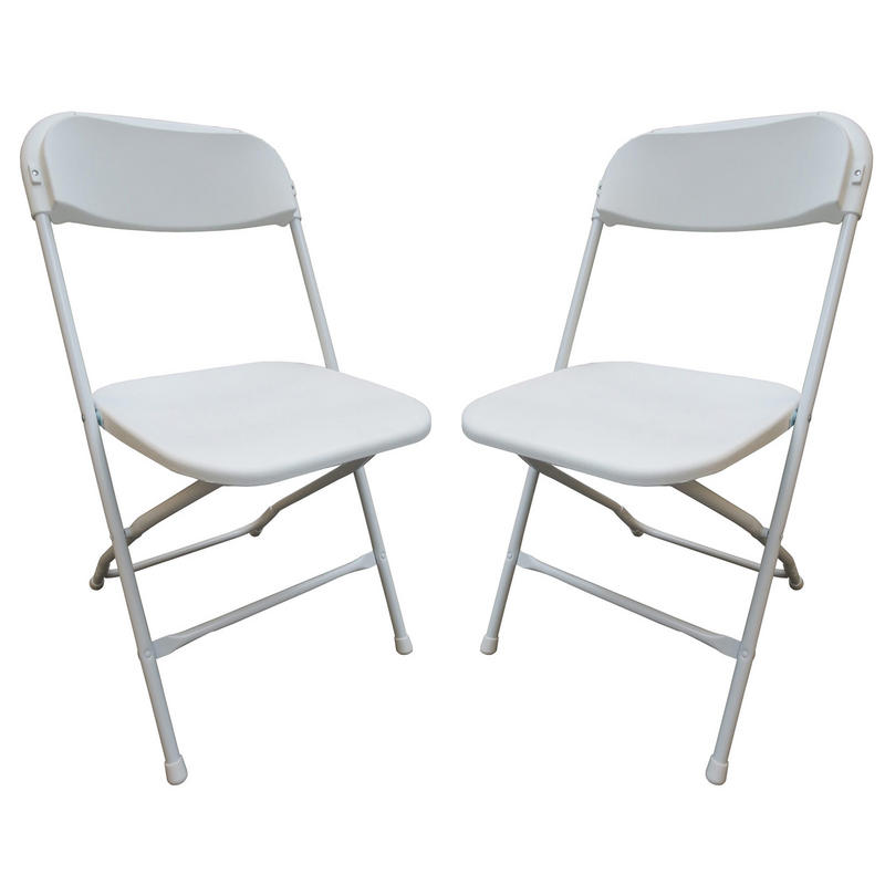 Set 2 Folding Chairs For Indoor Outdoor Use