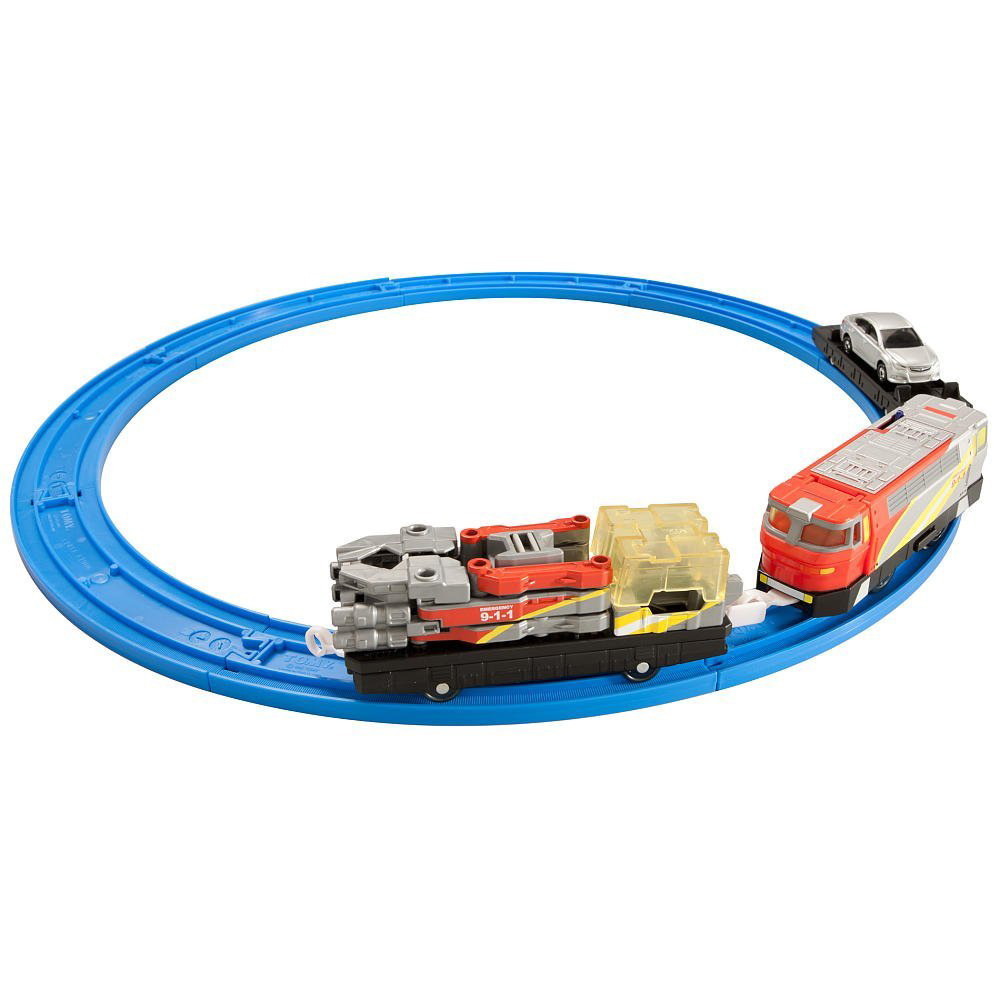 childrens tomy tomica hypercity rescue train set track city diecast jouet age 3 ebay. Black Bedroom Furniture Sets. Home Design Ideas