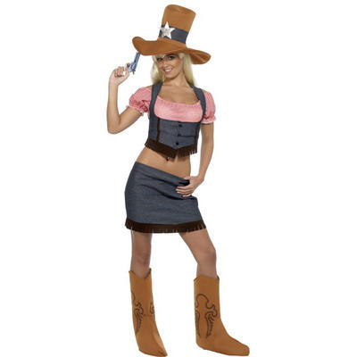 Wholesale Job Lot Of 6 Ladies Smiffys Wild West Cowgirl Fancy Dress Costumes
