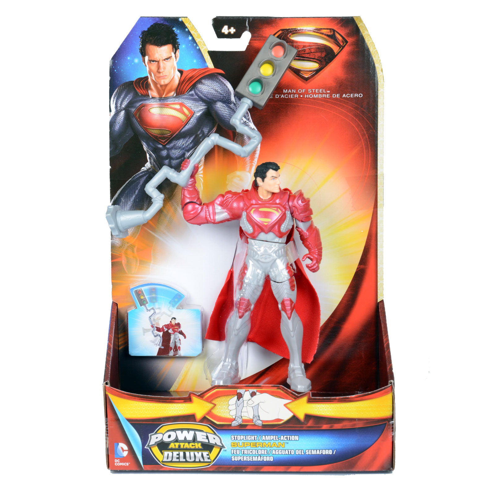 Best Superman Toys And Action Figures For Kids : Childrens superman power attack deluxe action figure man