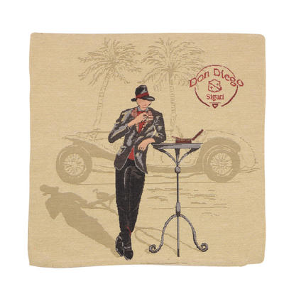 "Wholesale Job Lot Of 10 Cushion Covers With ""Don Diego"" Tapestry Style Design 45cm (18"")"