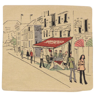 "Wholesale Job Lot Of 10 Cushion Covers With ""Street Scene 1"" Tapestry Style Design 45cm (18"")"