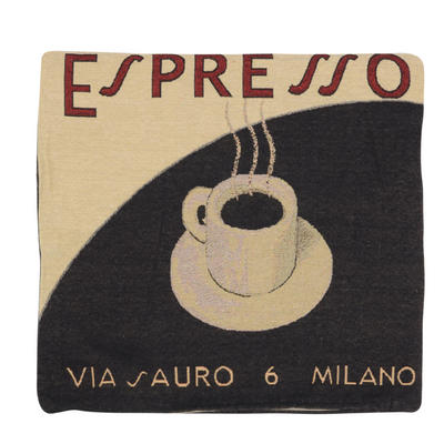 "Wholesale Job Lot Of 10 Cushion Covers With Cream ""Espresso"" Tapestry Style Design 45cm (18"")"