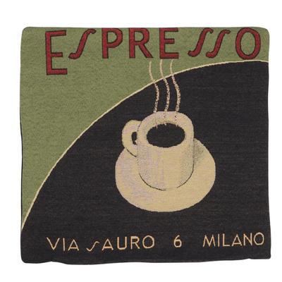 "Wholesale Job Lot Of 10 Cushion Covers With Green ""Espresso"" Tapestry Style Design 45cm (18"")"