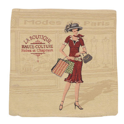 "Wholesale Job Lot Of 10 Cushion Covers With ""La Boutique"" Tapestry Style Design 45cm (18"")"