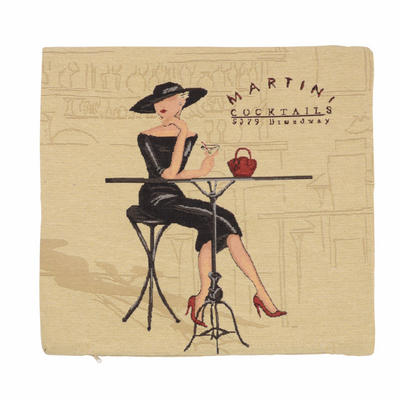 "Wholesale Job Lot Of 10 Cushion Covers With ""Martini"" Tapestry Style Design 45cm (18"")"