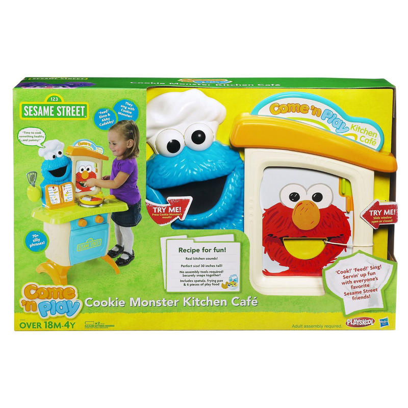 Childrens playskool cookie monster kitchen cafe play set for Playskool kitchen set