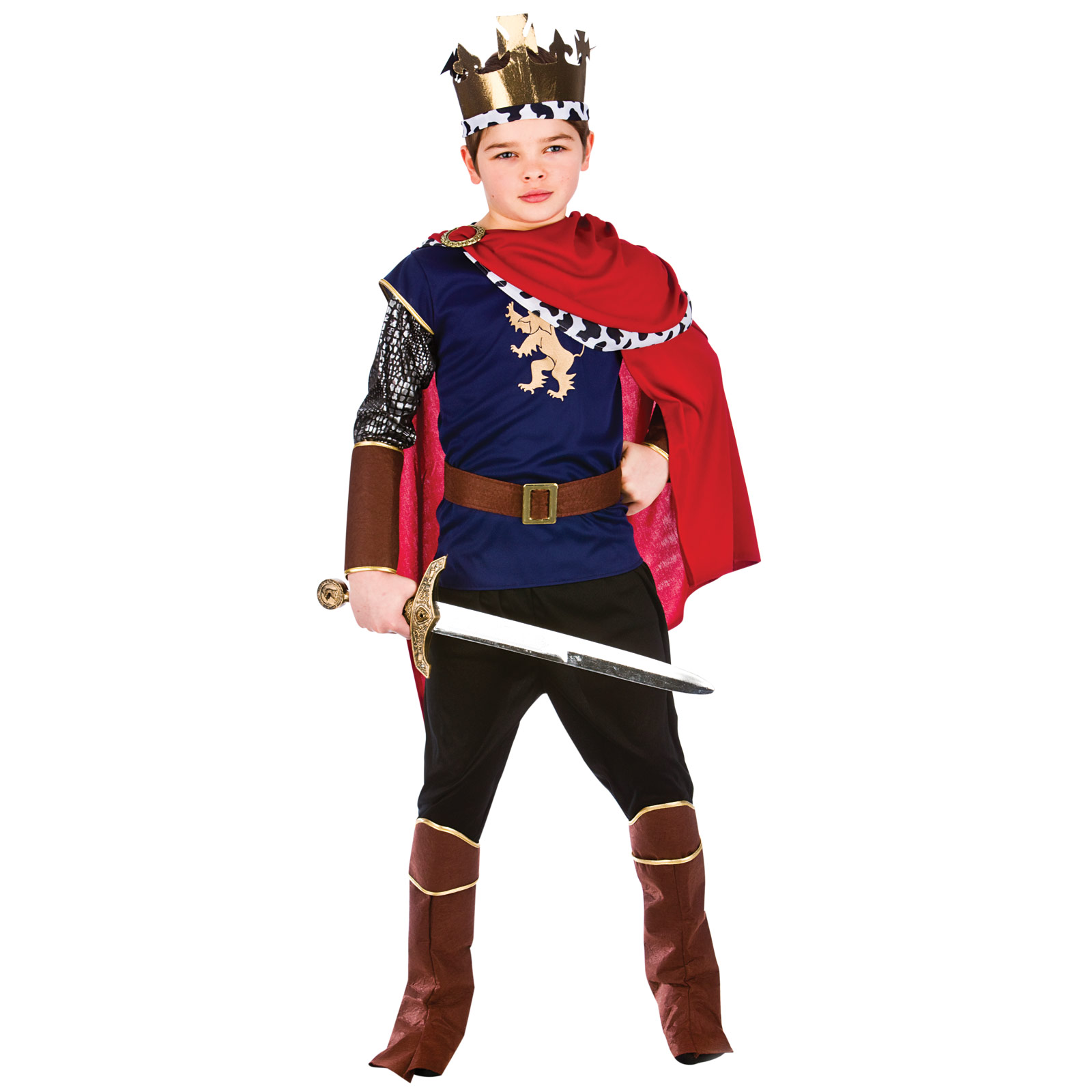 Childrens Boys Deluxe Medieval King Halloween Fancy Dress Up Costume Outfit New | EBay