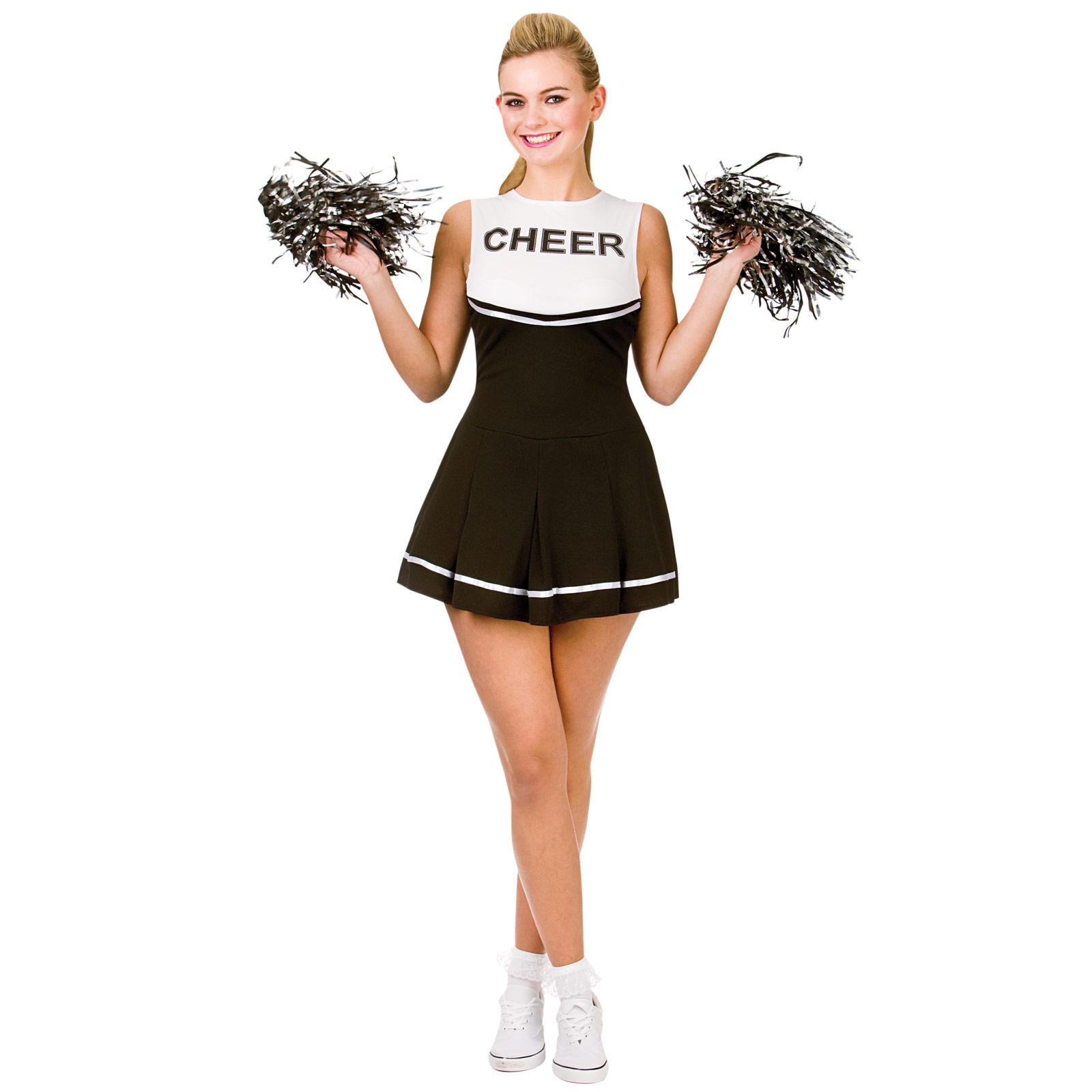 Ladies-black-white-cheerleader