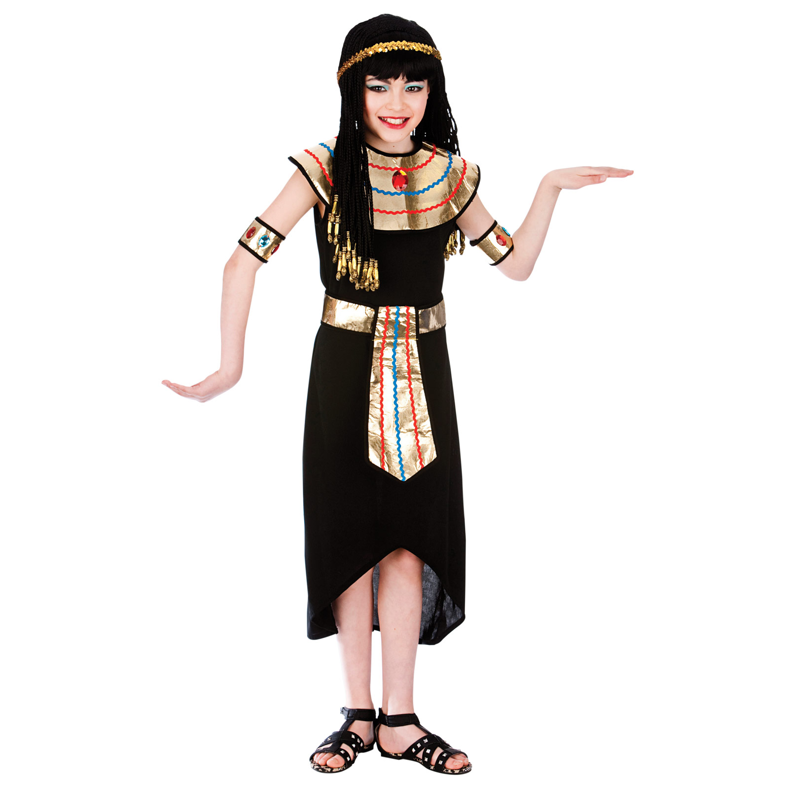 Ancient Egyptian clothing for children was very simple and consisted of simple pieces of cloth. Usually children did not wear any clothes because of the hot and dry weather. During the winter months, however, ancient Egyptian clothing for children consisted of wraps and cloaks which could be stitched or just wrapped around the body.