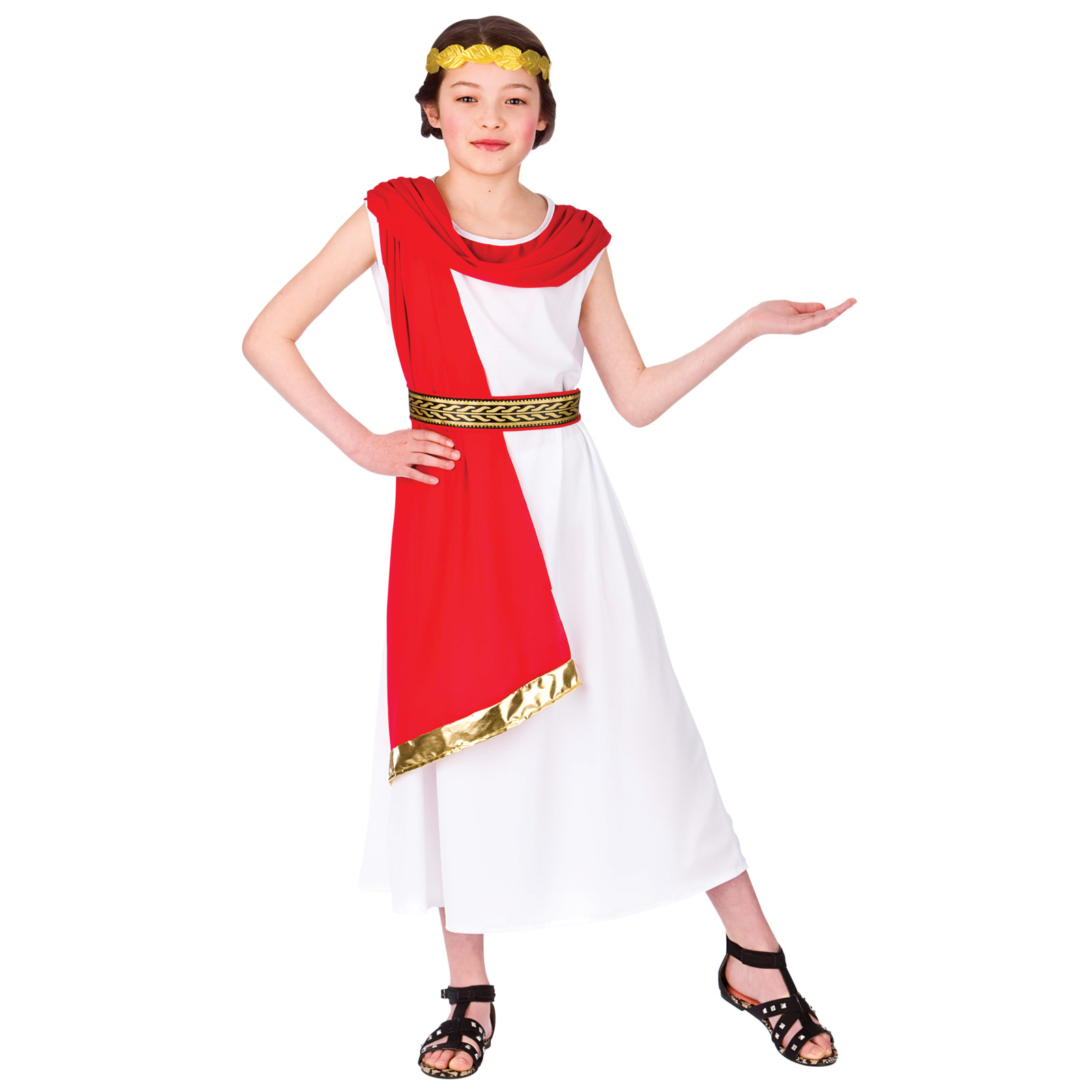 Excellent  Grecian Goddess Roman Venus Toga Fancy Dress Costume Large 71089000lge