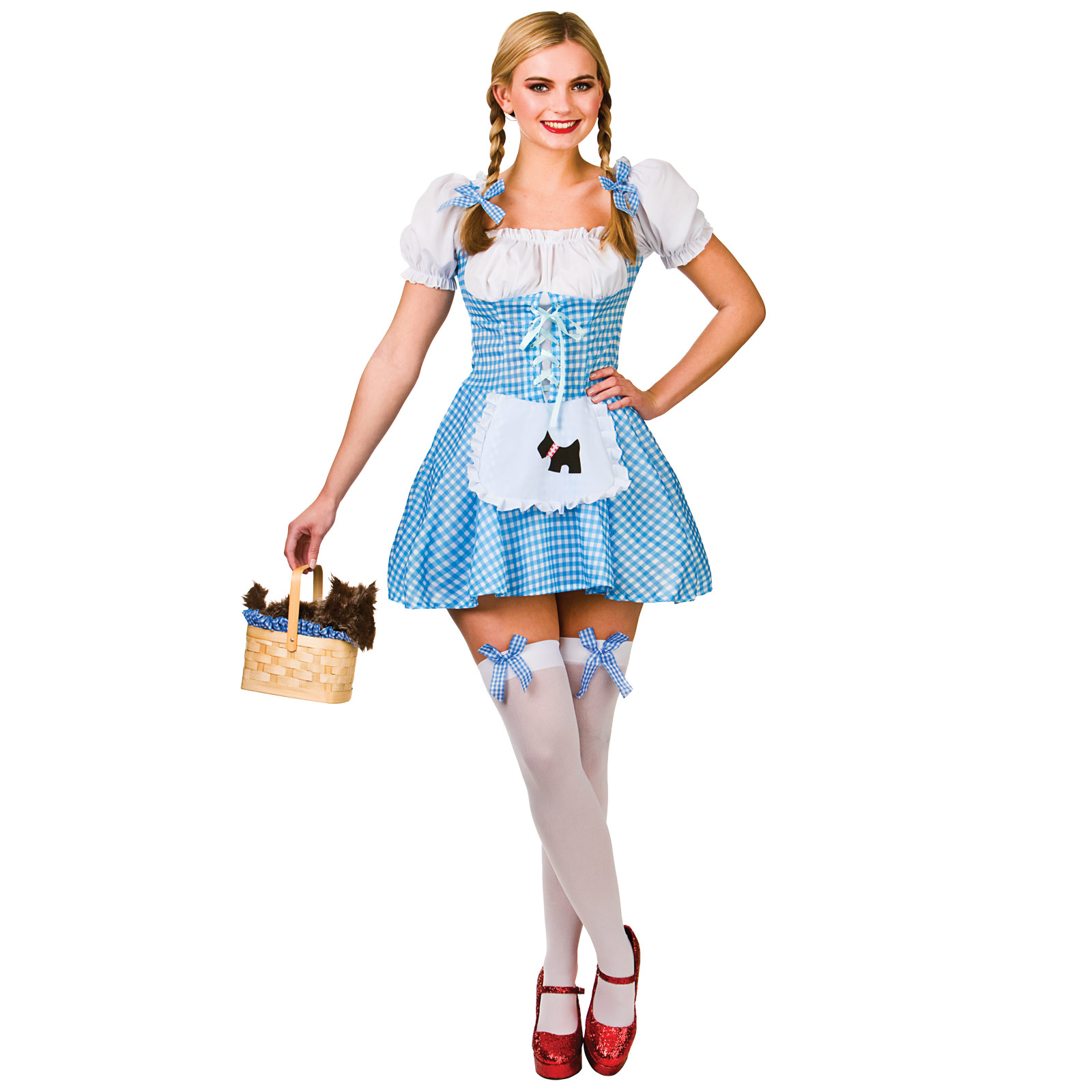 Ladies Dorothy Wizard Of Oz Fancy Dress Up Halloween Role Play ...