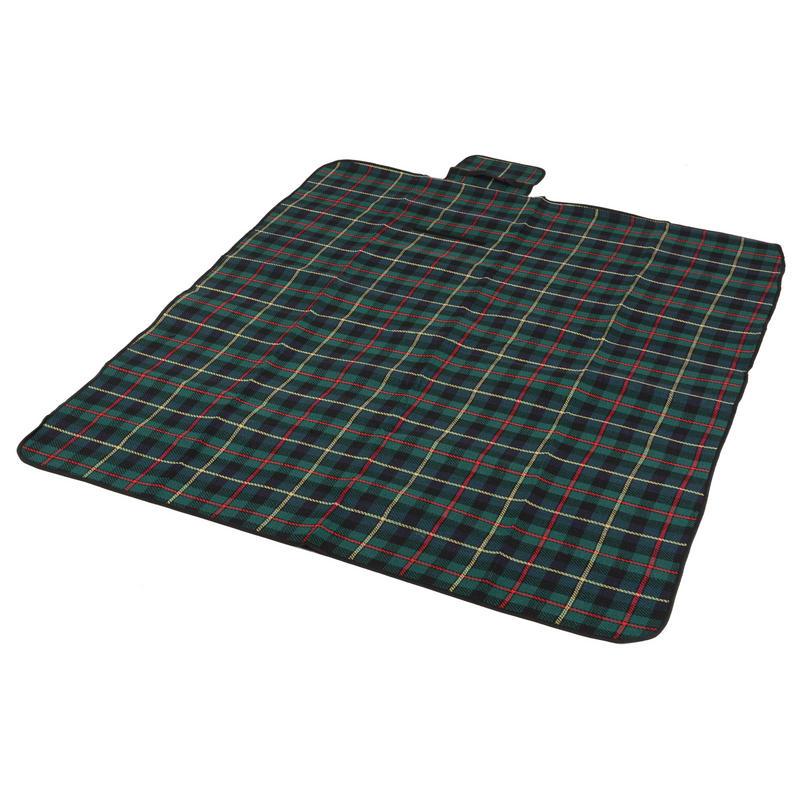 Green Tartan Folding Waterproof Acrylic Picnic Blanket Rug