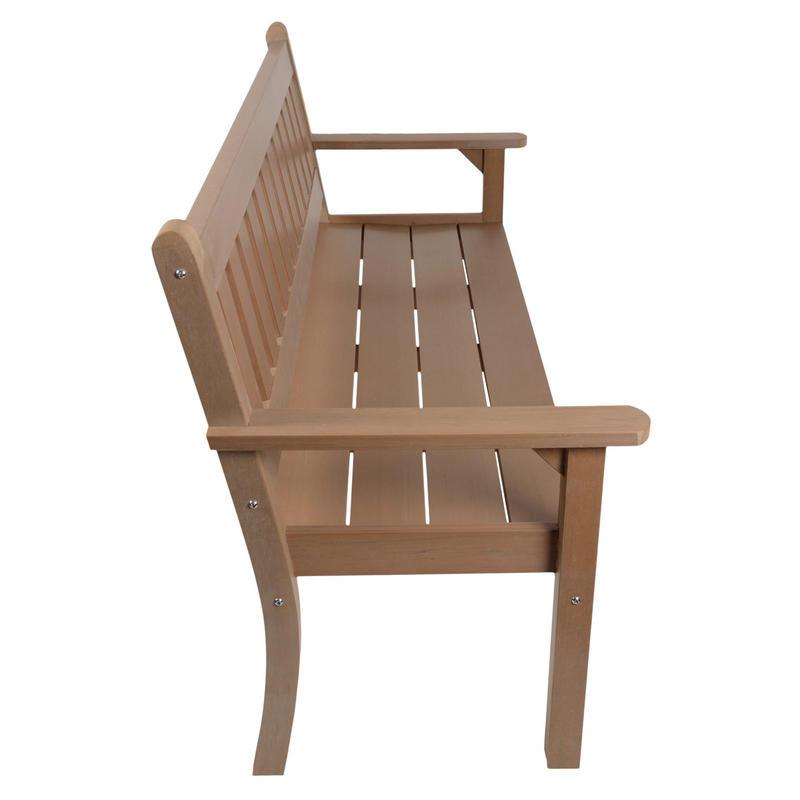 3 seat teak zero maintenance garden patio jura bench for Zero maintenance garden