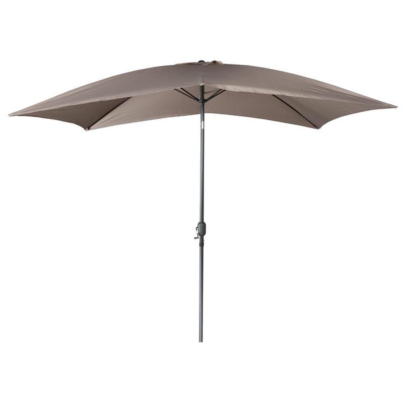2m x 3m taupe rectangular tilting garden parasol with crank. Black Bedroom Furniture Sets. Home Design Ideas