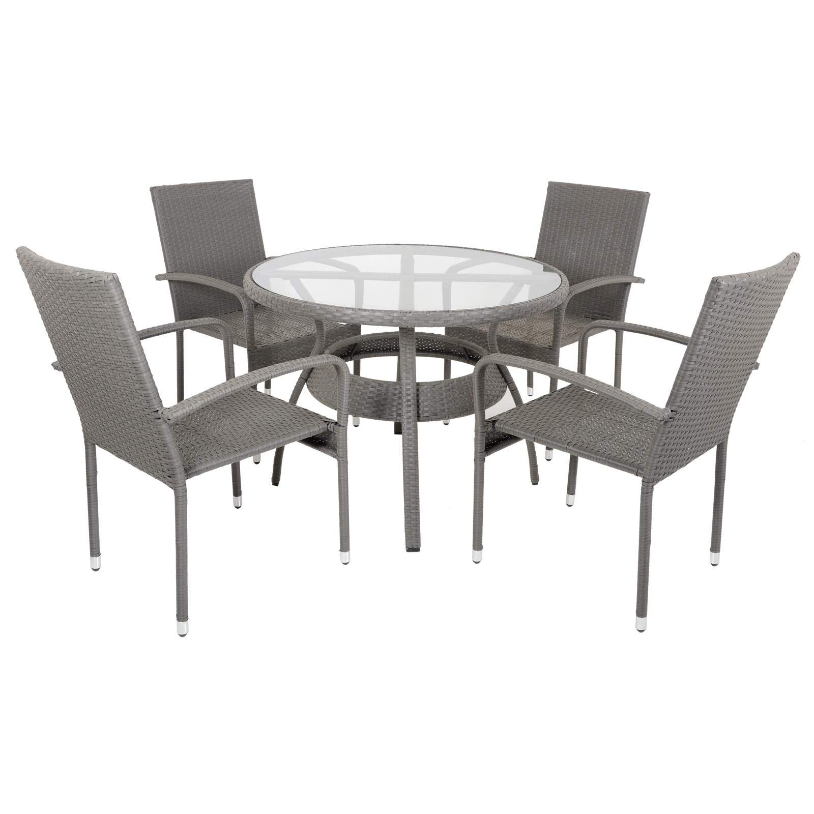 Ravenna Rattan Wicker Aluminium Garden Patio Dining Table