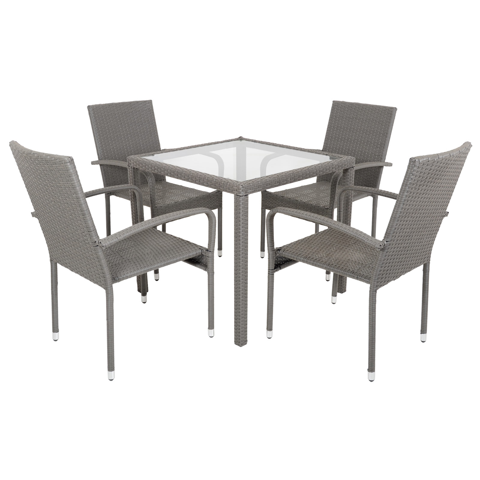 Rattan Dining Table And Chairs: Modena Rattan Wicker Dining Table With 4 Chairs Garden