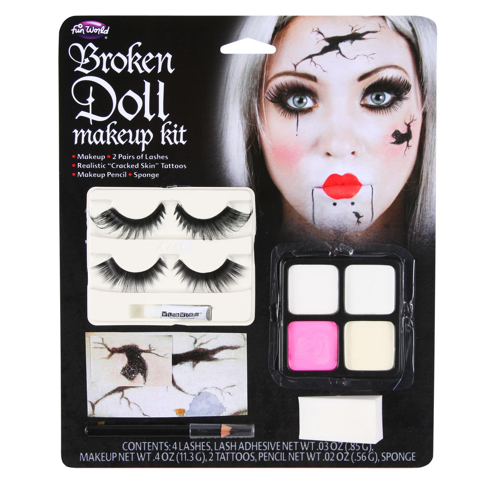 Adults Broken Doll Makeup Kit Face Painting Set Kit Fancy Dress Party Halloween | EBay