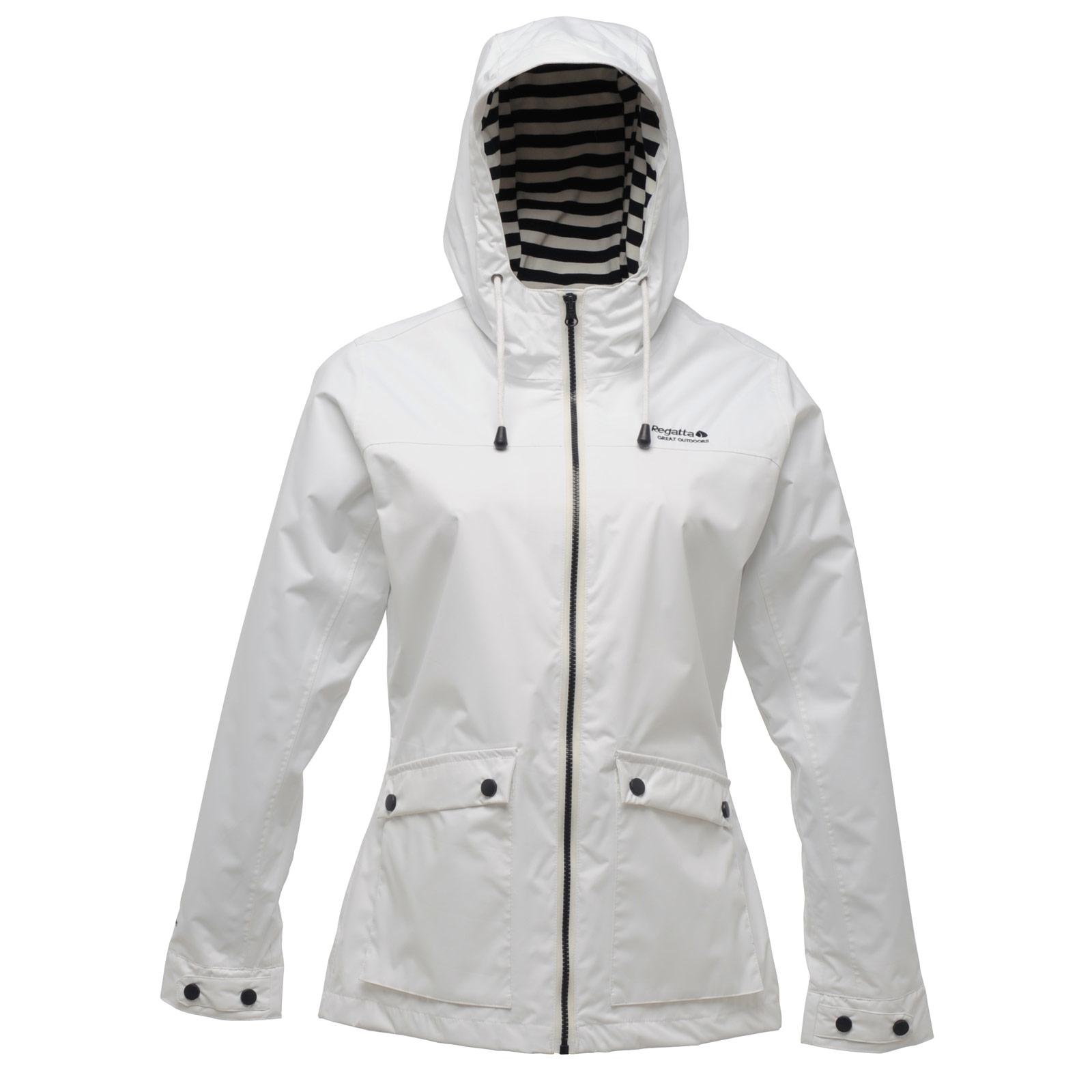 Regatta Womens Bayeux Waterproof Jacket With Hood & Striped Lining ...