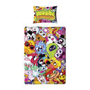 Childrens Moshi Monsters Reversible Single Duvet Set