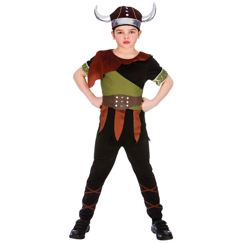 Boys Viking Fancy Dress Up Halloween Costume