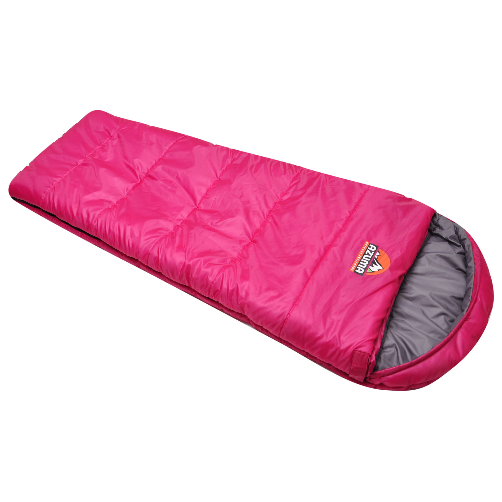 Azuma Pink / Grey Childrens Kids Junior Mummy Sleeping Bag ...