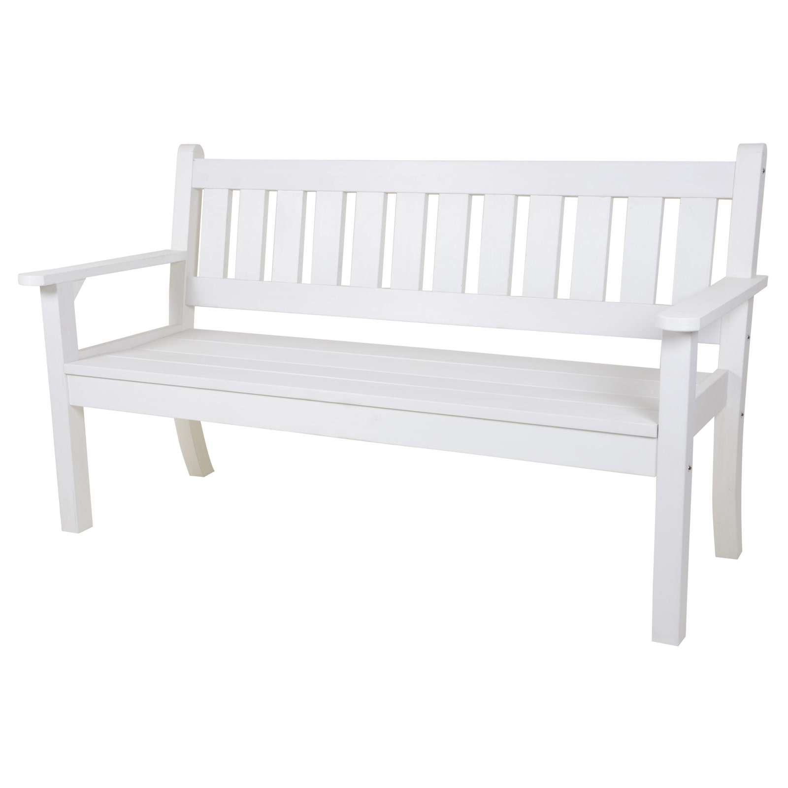 3 Seat White Bench Outdoor Garden Patio All Weather No Maintenance Wood Effect Ebay