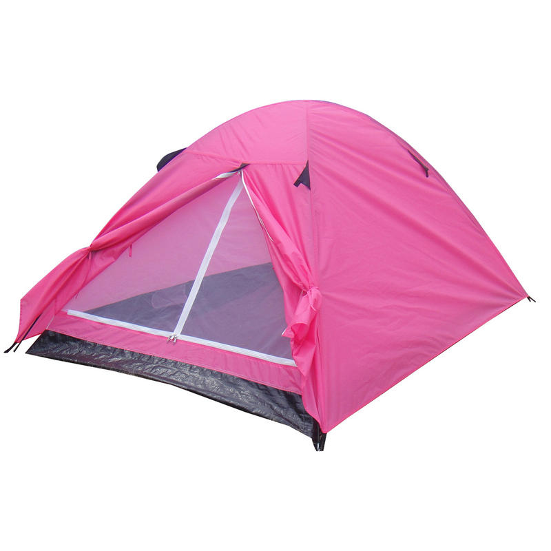 Neon Pink 2 Man Double Skin Festival Camping Tent