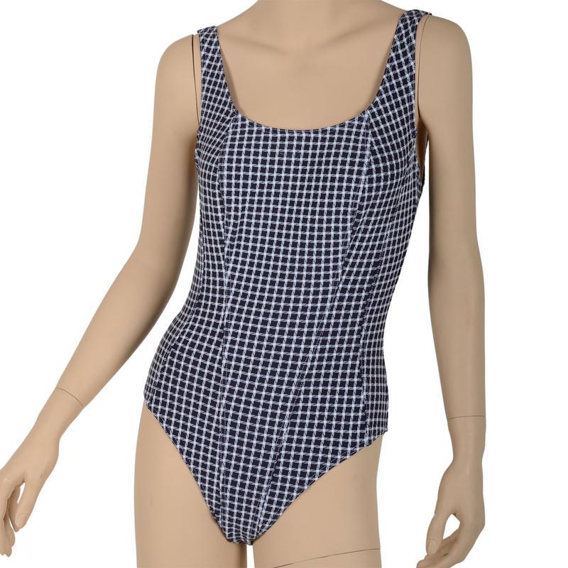 Black Amp White Check Swimsuit Bathing Suit Costume