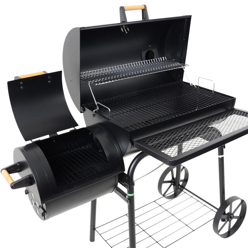 barrel smoker charcoal wood garden bbq barbecue outdoor grill. Black Bedroom Furniture Sets. Home Design Ideas