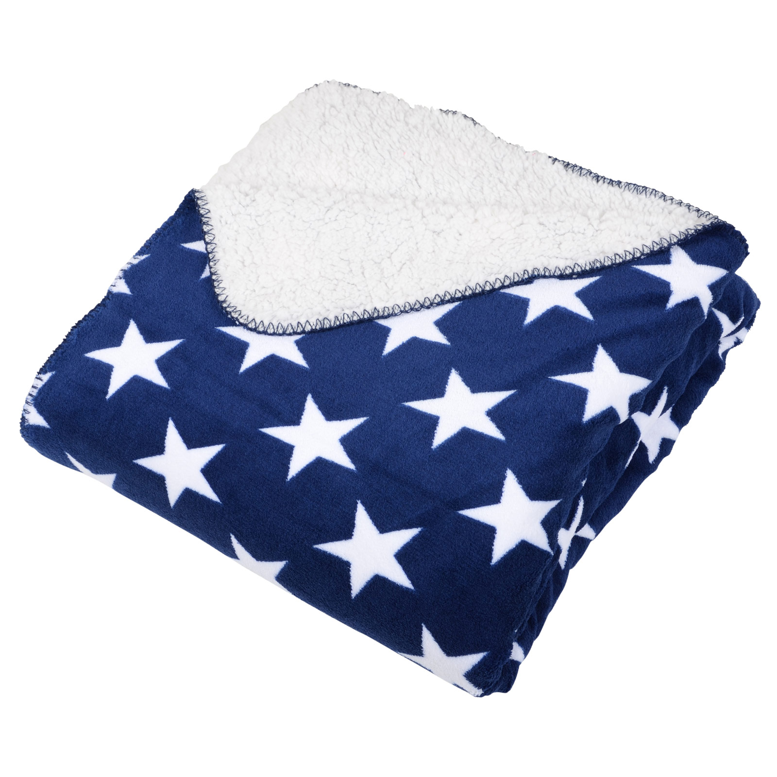 Stars Design Warm Fleece Blanket Soft Sherpa Luxury