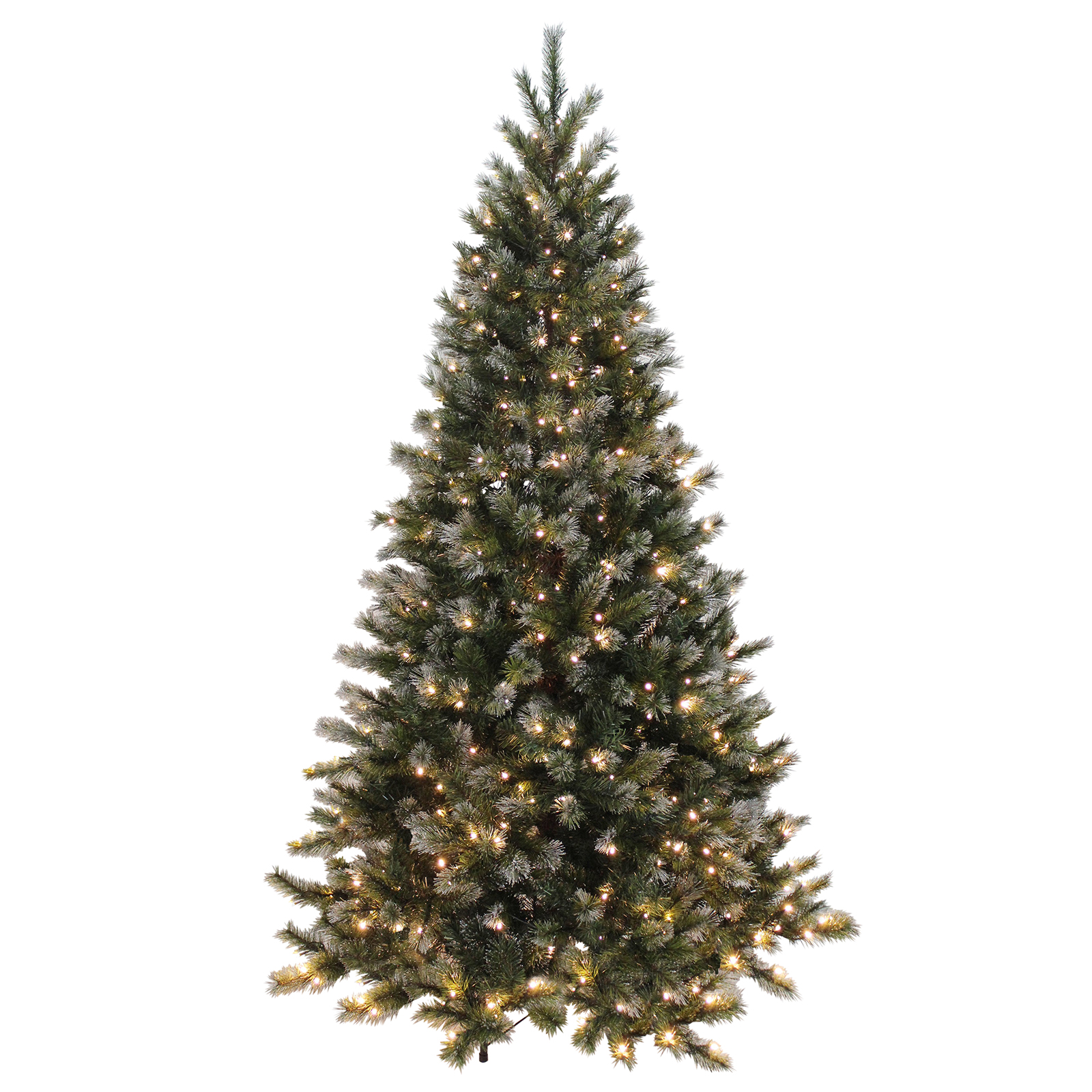 Green glitter pine artificial pre lit warm white lights