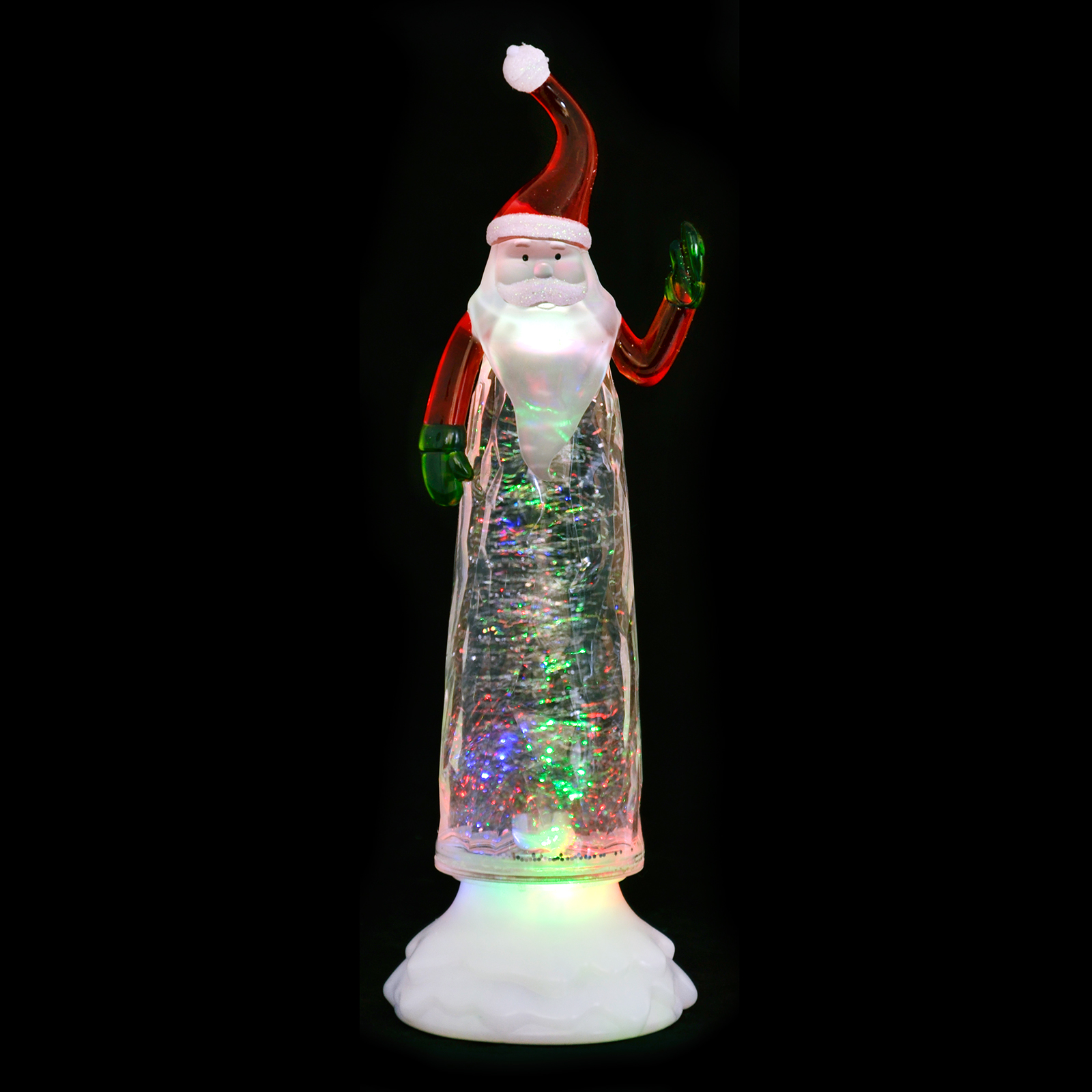 Colour Changing LED Light Up Glitter Water Ornament ...