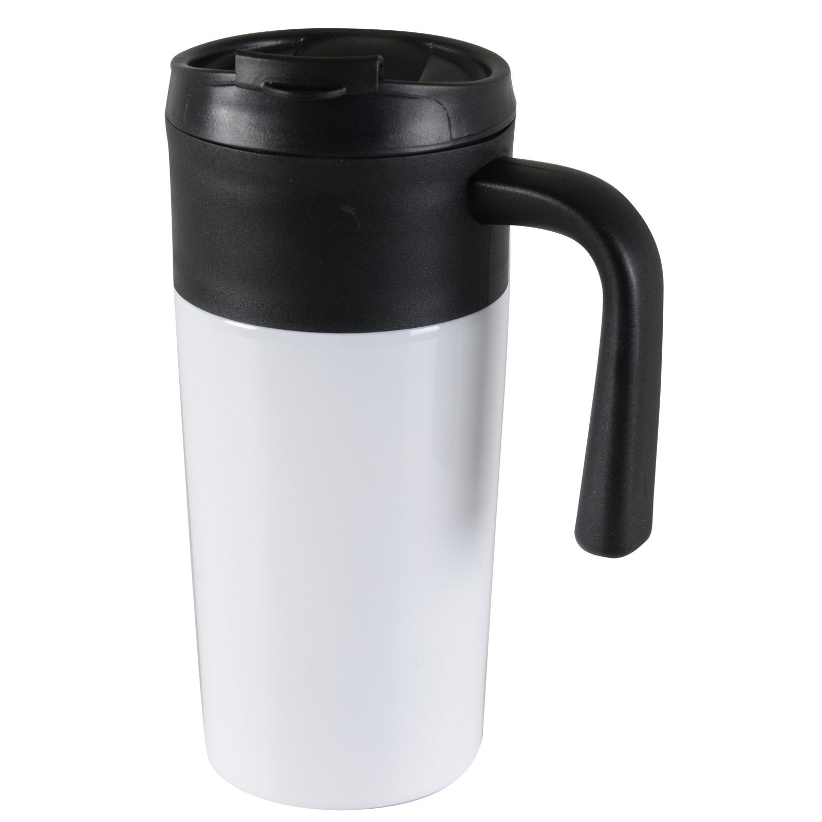 Tazza 450ml Thermal Mug Hot Warm Drinks Coffee Tea Travel Flask Cup Screw On Lid   eBay