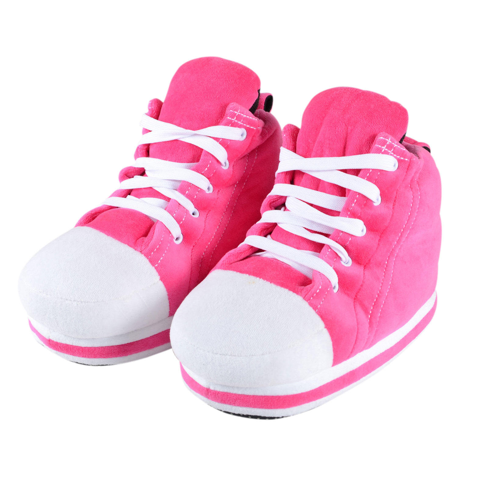 pink sneaker trainer novelty slippers with shoe