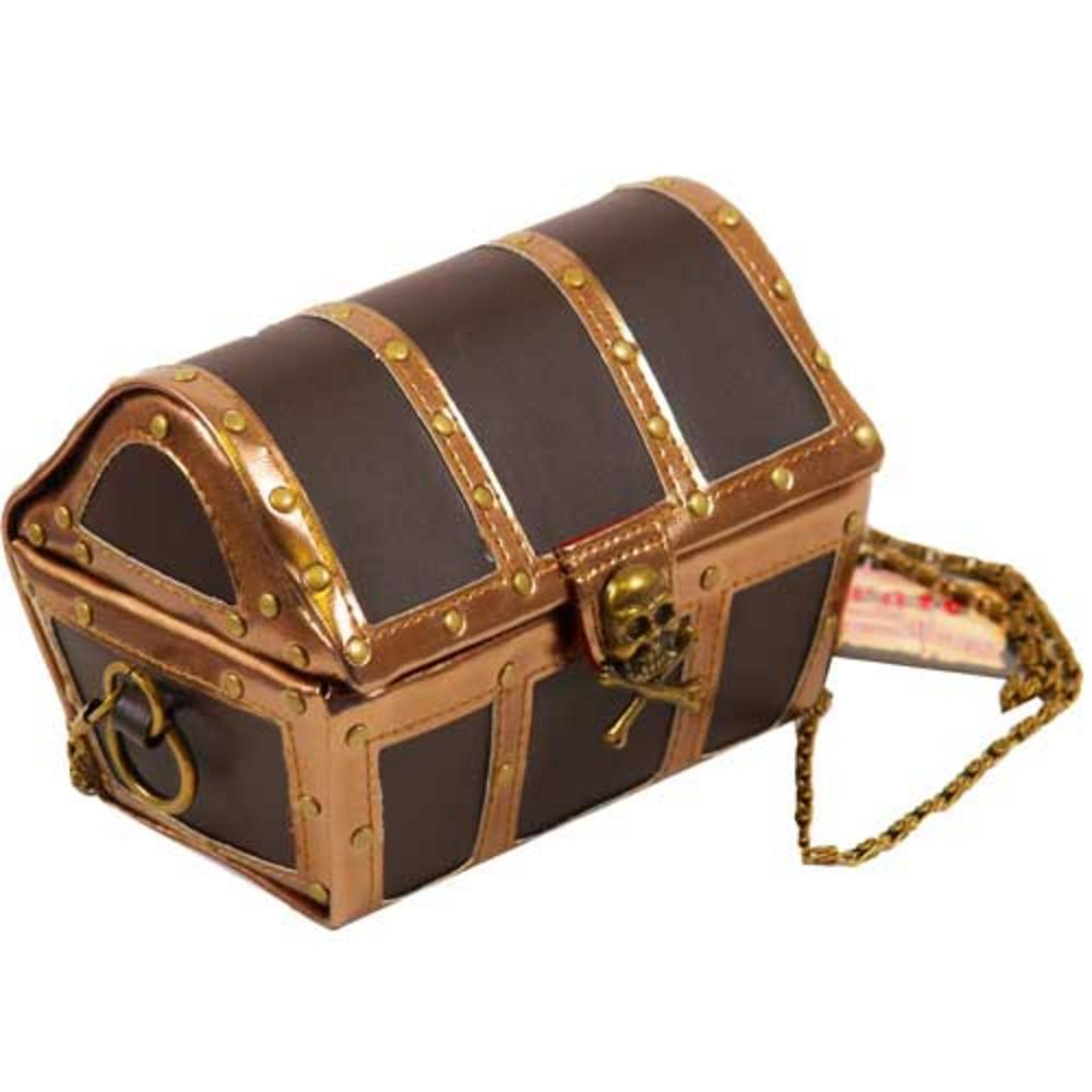 Pirate Treasure Chest Handbag Fancy Dress Costume Prop