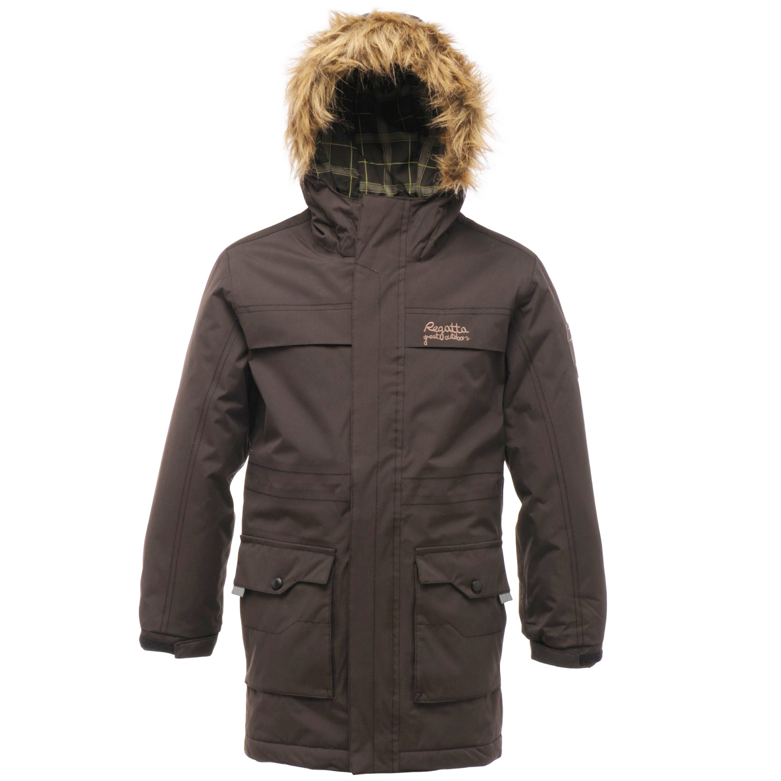 Regatta Boys Waterproof Rebellion Parka Jacket With Faux Fur Trim ...