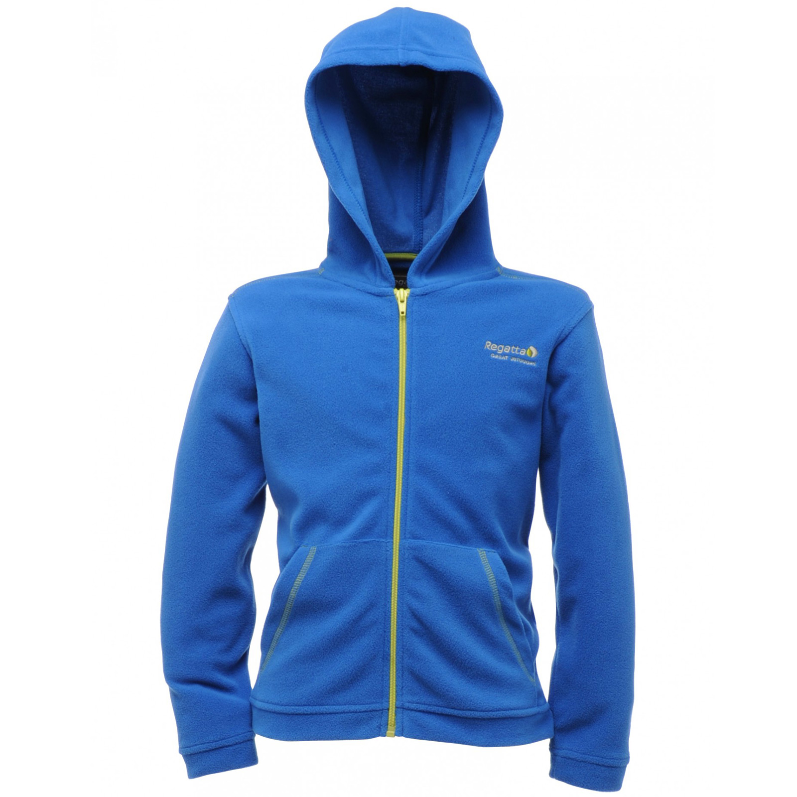Regatta-Childrens-Chad-Fleece-Hooded-Jacket-Zip-Up-Top-Outdoor-Wear-Kids-Hoodie