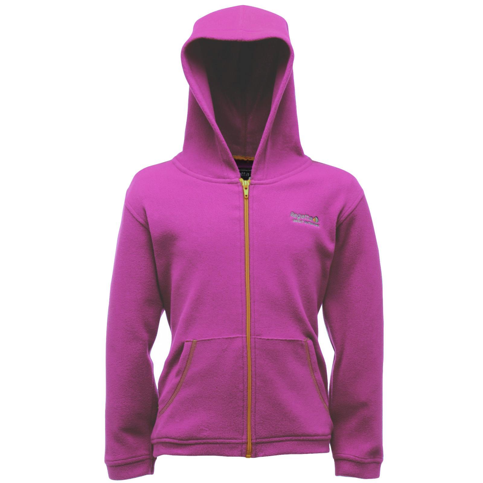 Regatta-Childrens-Chad-Fleece-Hooded-Jacket-Zip-Up-Top-Outdoor-Wear-Kids-Hoodie