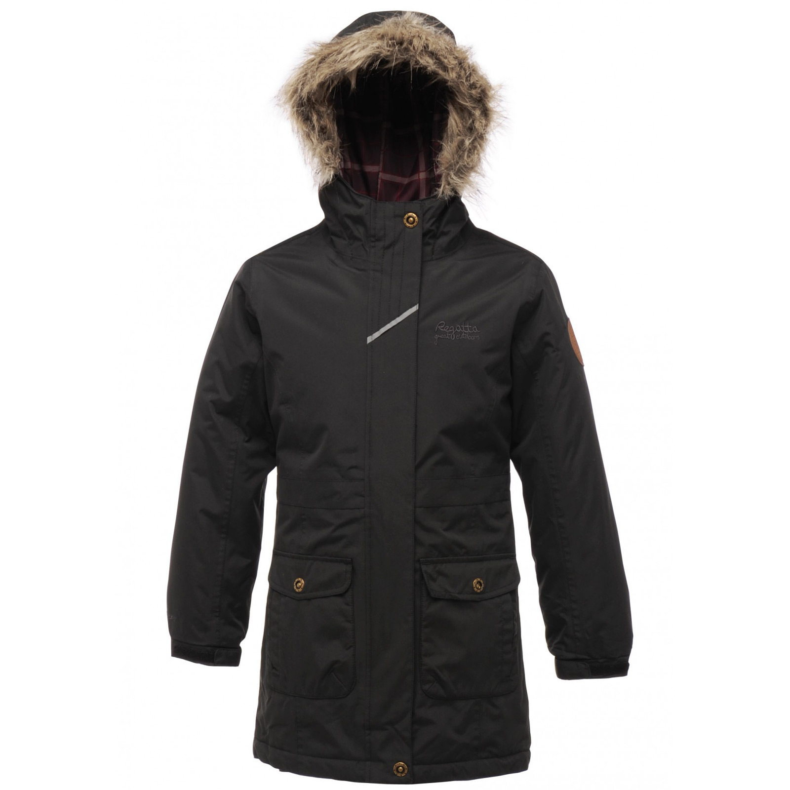 Regatta Girls Waterproof Izzie Parka Jacket With Faux Fur Trim ...