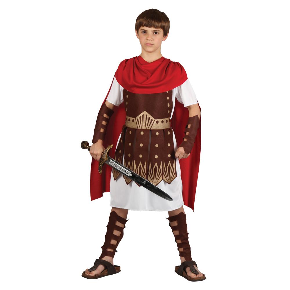 Childrens Roman Gladiator Centurion Warrior Halloween Fancy Dress ...