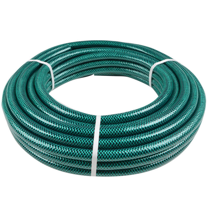 Green Jem 15m Length Braided Green Garden Hose Pipe