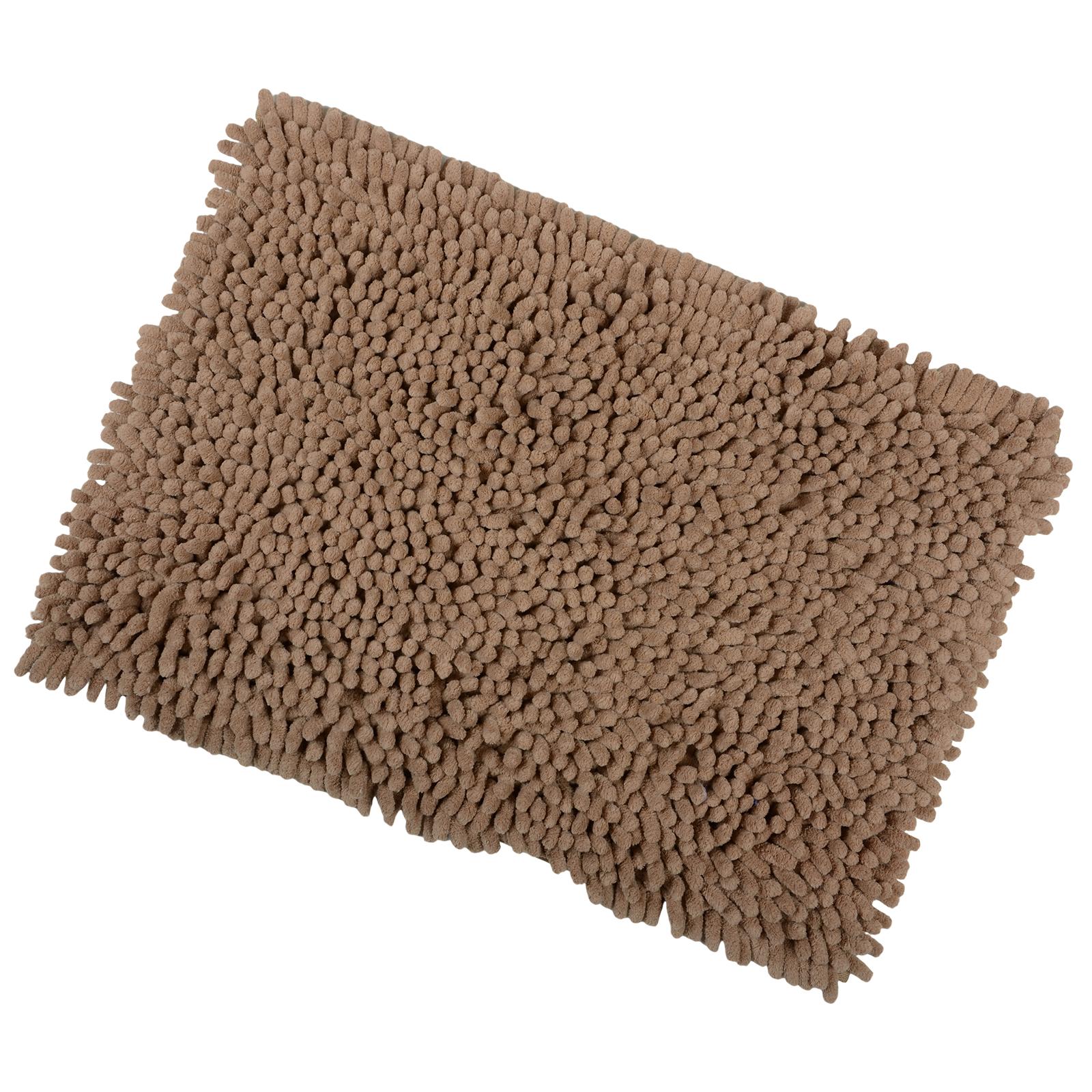 shaggy microfibre bathroom shower bath mat rug non slip backing 12 colours ebay. Black Bedroom Furniture Sets. Home Design Ideas
