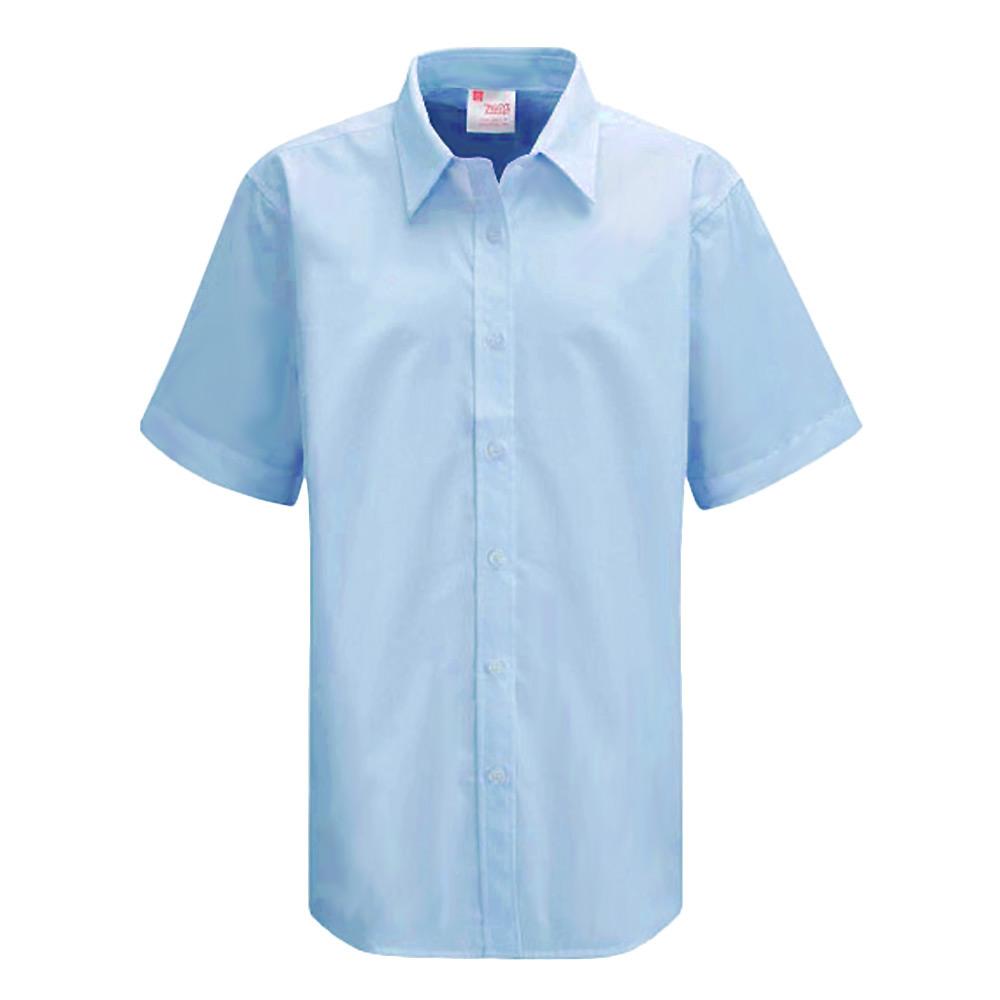 Twin pack girls ziggys blouse long short 3 4 sleeve school for Short sleeve school shirts