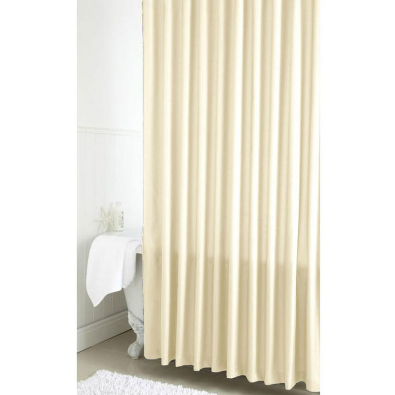 croydex basics pvc ivory waterproof shower bath curtain new. Black Bedroom Furniture Sets. Home Design Ideas