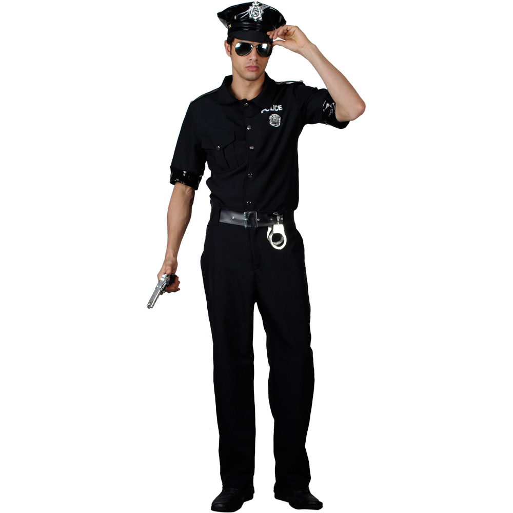 Dress up new york - Mens Terminator New York Cop Police Fancy Dress Up Party Halloween Costume New