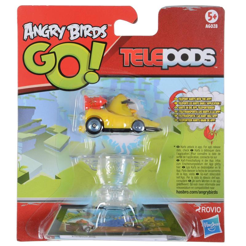 Angry birds go toys : Angry birds go telepods chuck mega rocket yellow bird