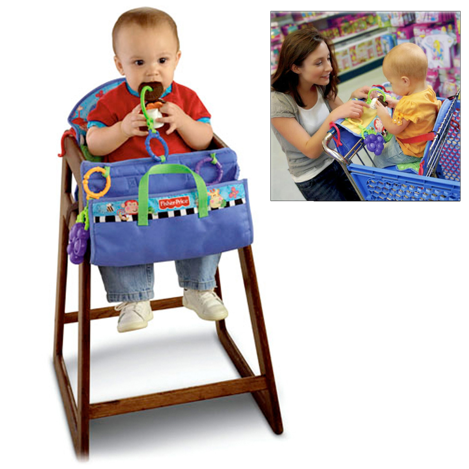 Fisher Price Fold N Fun Seat Cover Baby Toy Cafe High Chairs
